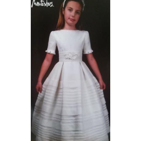 Vestido de comunion seda-lino
