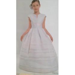 Vestido comunión seda-cristal de diseño clásico
